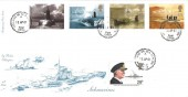 2001 Submarines, Special Delivery 4d Post FDC, Holland on Sea Clacton cds, with 1982 29p Viscount Cunningham Maritime Heritage Stamp.