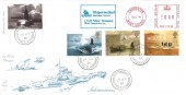 2001 Submarines, 4d Post FDC, Shipwrecked Mariners' Society Chichester Meter Mark, Bottomboat  Wakefield Yorkshire cds.