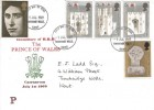 1969 Prince of Wales Investiture, Philcovers FDC, Tunbridge Wells FDI