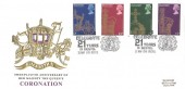 1978, 25th Anniversary of the Coronation, Benham Engraved FDC, Lewis's Celebrates 21 Years in Bristol h/s.