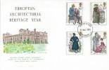 1975 Jane Austen, Wilton House FDC, Salisbury FDI.