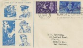 1946 Victory, Illustrated FDC to New Zealand, Don't Waste Bread Others Need It Slogan Edinburgh.