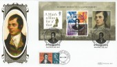 2009, Robert Burns, Benham BLCS 418 Official FDC, 250th Anniversary of the Birth of Robert Burns Alloway Ayr KA7 H/S