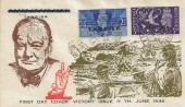 1946 Victory, Tangier Overprint, Illustrated Churchill FDC, British Post Office Tangier cds