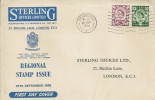 1958, 6d, 1/3d Scottish Regionals, Sterling Insurance FDC, Edinburgh B Cancel