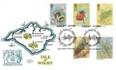 1985, British Insects, Isle of Wight FDC, Robert Hooke Freshwater Isle of Wight H/S