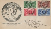 1935, KGV Silver Jubilee, Illustrated FDC, Tideswell Buxton cds