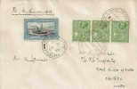 1936, Falkland Islands Cover, Postmarked Fox Bay, forwarded to Malta, receiving 3 Maltese ½d stamps cancelled by Knight of Malta Paquebot