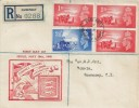 1948 Channel Islands Liberation, Guernsey Registered Illustrated FDC, Guernsey Channels Islands cds