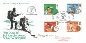 1981 Duke of Edinburgh's Awards, Save the Children FDC, The Duke of Edinburgh's Award 1956-1981 Belfast H/S, Signed by the Stamp Designer Philip Sharland