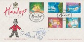 1987 Christmas, Covercraft Official FDC, Happy Christmas Hamleys The Finest Toyshop in the World London W1 H/S, Signed by Rolf Harris
