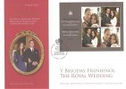2011, The Royal Wedding, Royal Mail Official Souvenir FDC, The Royal Wedding Prince William & Catherine Middleton Westminster Abbey H/S