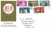 1970 General Anniversaries, Post Office FDC, Nottingham Festival Robin Hood 11-26 July 1970 Slogan