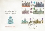 1969 British Cathedrals, Royal Air Force Hospital Wegberg FDC, Forces Post Office 50 cds