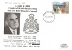 1971 Ulster Paintings Lord Reith BBC FDC, 3p Stamp Only, Edinburgh FDI