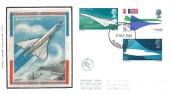 1969 Concorde, A Finch Silk FDC, Filton Bristol FDI