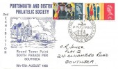 1965, Salvation Army, Portsmouth & District Philatelic Society Official FDC, Portsmouth & District Philatelic Society H/S