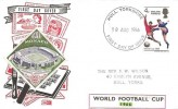 1966, England World Cup Winners, Philart FDC, Hull Yorkshire FDI, with Monaco Wembley Stadium stamp.