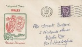 1958, 3d Welsh Regional, Illustrated FDC, Cardiff Cancel.