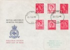 1969, Set of Six 4d Regionals, RAF Wegberg Hospital FDC, Forces Post Office 79 cds.