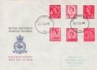 1969, Set of Six 4d Regionals, RAF Wegberg Hospital FDC, Forces Post Office 79 cds.