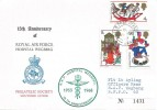 1968 Christmas, RAF Wegberg Philatelic Society 15th Anniversary Souvenir FDC, Field Post Office 993 cds, RAF Hospital Wegberg 15th Anniversary 1953 - 1968 Cachet