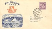 1958, 3d Guernsey Regional, Herm Island FDC, St. Peter Port Guernsey cds, Herm Map Local on the Back.