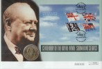 2001 Flags & Ensigns Miniature Sheet Westminster Official Coin FDC