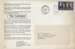 1964, Shakespeare Festival, The Listener BBC Television Review FDC, 3d Ordinary Stamp only, London W1 First Day of Issue Slogan.