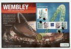 2007 Wembley Stadium Miniature Sheet Westminster Coin FDC
