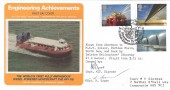 1983, Engineering Achievements, Presentation Philatelic Services FDC, Flown Aberdeen to MSV lolair, Forties Field North Sea & back by Helicopter, BP Contribution Iolair Aberdeen H/S, Signed
