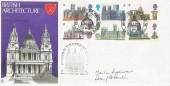 1969, British Cathedrals, Trident FDC, Philatex St. Paul's London EC H/S, Signed by the then Dean of St. Paul's Martin Sullivan