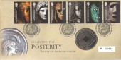 2003, British Museum, Royal Mint Medal Official FDC, 250th Anniversary of the British Library London WC H/S