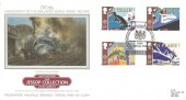 1988, Transport & Communications, Presentation Philatelic Silk Mallard World Speed Record FDC, 50th Anniversary of the World Speed Record National Postal Museum York H/S