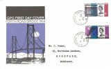 1964, Forth Road Bridge, GPO FDC, Balmoral Castle cds