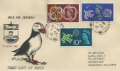 1961, CEPT, Isle of Jethou Commemorative Puffin Cover, St. Peter Port Guernsey Ch. Is. cds