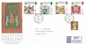 1987 Scottish Heraldry, Registered Royal Mail FDC, Buckingham Palace SW1 cds