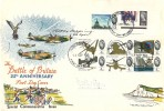 1965 Battle of Britain, Illustrated FDC, London EC FDI, Signed by Bobby Oxspring 66 Squadron Spitfire Pilot Battle of Britain