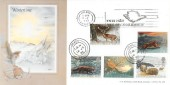 1992 Wintertime, Bradbury LFDC102 FDC, Ynys Môn Isle of Anglesey Slogan + Amlwch Gwynedd cds