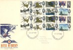 1965 Battle of Britain, Illustrated FDC, both Phosphor & Ordinary Sets on the one Cover. Birmingham FDI