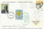 1979 Sir Rowland Hill, 120th Anniversary World Aerial Post Balloon FDC, 10p Stamp only, St. Albans FDI, Pilot Signed
