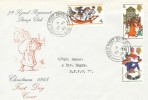 1968 Christmas, 7th Signal Regiment Stamp Club FDC, Field Post Office 975 cds