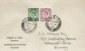 1958, 6d & 1s 3d Scotland Regionals, Dibben & Son Philatelists Display FDC, Glasgow cds