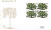 1973 British Trees,The Oak, Post Office / Stampex Official FDC, Block of 4, Stampex 73 Royal Horticultural Hall London SW1 H/S