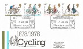 1978, Cycling Centenary, Post Office FDC, Self-Righting Life-boat Exhibition The Science Museum S. Kensington SW7 H/S
