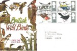 1966 British Birds, Connoisseur FDC, Crawley Best of the New Towns Crawley Sussex Slogan