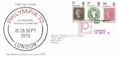 1970 Philympia, Action for the Crippled Child No.2 FDC, Philympia Day London H/S