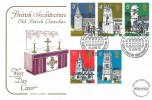 1972 Village Churches, Cotswold FDC, Village Churches Earls Barton Northampton H/S