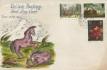 1967 Paintings, Hand Illustrated FDC, Coleshill Birmingham cds