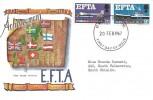 1967, European Free Trade Area (EFTA), Connoisseur FDC, Newcastle Upon Tyne FDI